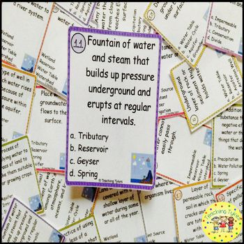 Fresh Water Task Cards