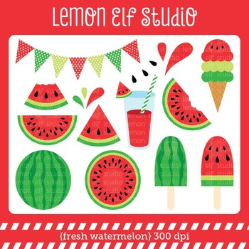 Fresh Watermelon-Digital Clipart (LES.CL29A)
