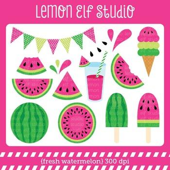 Fresh Watermelon-Digital Clipart (LES.CL29A)