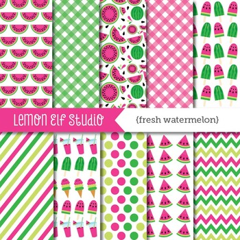 Fresh Watermelon-Digital Paper (LES.DP29A)