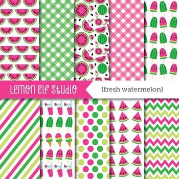 Fresh Watermelon-Digital Paper (LES.DP29A)