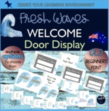 Fresh Waves Surf Beach Theme Welcome Door Display Classroom Decor Back to School