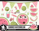 Fresh summer watermelon clipart