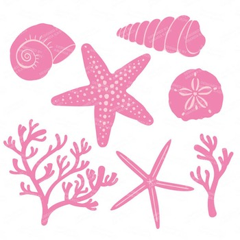 Freshgirl Coral & Seashells Clipart