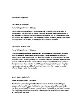 Freshman English Composition Course Outline