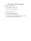 Freshman English - Winter Break Essay