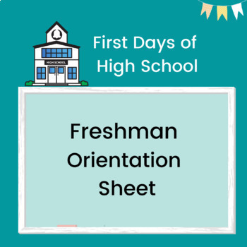 Freshman Orientation or Class Night Editable Sheet -Publisher