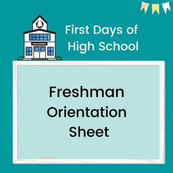 Freshman Orientation or Class Night Editable Sheet -Publisher