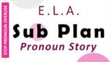 "ENGLISH SUB PLAN -""Pronoun Story""- Print or Email Ready- M"