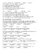 Freshmen Midterm Exam 250 questions  and KEY Scantron