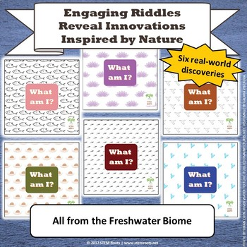 Freshwater Biome Biomimicry Discovery Cards Kit  NGSS 1-LS1-1