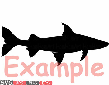 Fish Freshwater Saltwater clipart fishing trout catfish bass Shark Catch -595s
