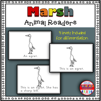 Freshwater Marsh Animals - A Differentiated Set of Emergent Readers