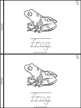 Freshwater Marsh Animals Book for Kindergarten and 1st Grade {D'Nealian Style}