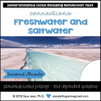 Freshwater & Saltwater Reading Comprehension Passage & Questions Nonfiction Text