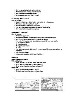 Freshwater - Study Guide & Test Bundle