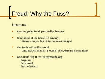 Freud Lecture (General or Introductory Psychology)