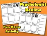 Sigmund Freud & Psychologist Review Meme Activity