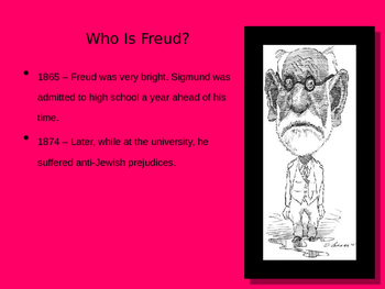 Freud Psychology Slideshow Lecture Powerpoint