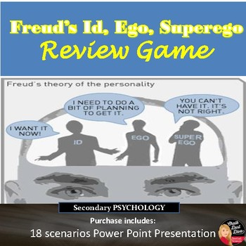Freud's Id, Ego, Superego Review Game (Psychology)