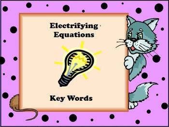 Freyer Model of Key Operation Words for Algebra or Word Problems