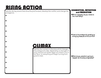 Freytag's Triangle Dramatic Structure Guided Reading Worksheet Graphic Organizer