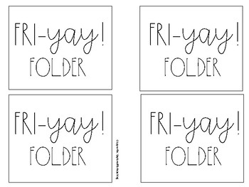 Fri-Yay! Folder Labels