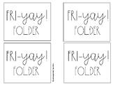 Fri-Yay! Folder Labels