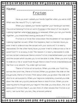 Friction Creates Heat
