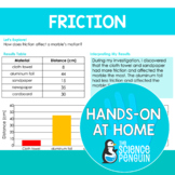 Friction {Hands-on at Home} | Distance Learning