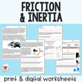Friction & Inertia - Guided Reading - PDF & Digital Versions