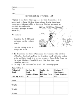 Friction Lab (motion force)