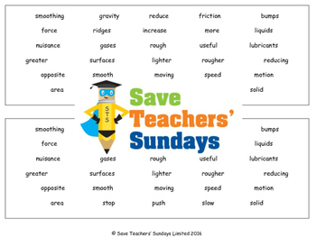 Friction Lesson plan and Worksheets