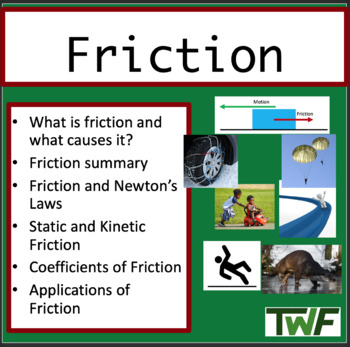 Friction Lesson - Interactive Physics Lesson Package and Challege Lab