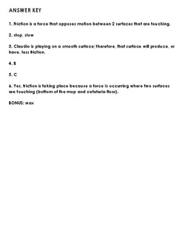 Friction Quiz (double set)