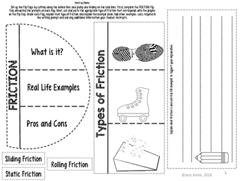 Friction Reading Comprehension Interactive Notebook
