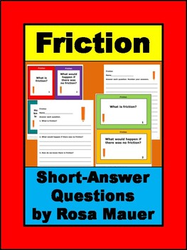 Friction Review and Quiz Short-Answer