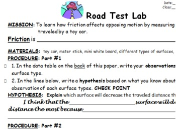 Friction: Road Test Lab