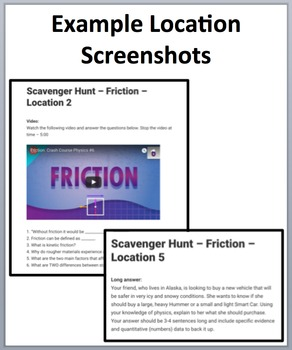 Friction – Device-Based Scavenger Hunt Activity