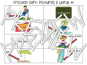 Friction Sort with Pictures, Words, and Object Suggestions