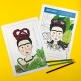 Frida Kahlo Activity Book (bio, coloring, art, paper doll)