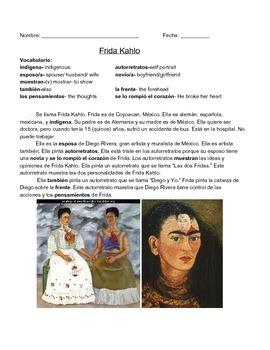 Frida Kahlo Adjetivos y Identificación personal