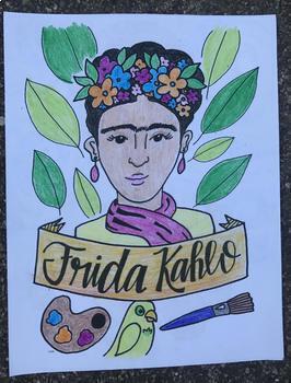 Frida Kahlo Art History Printable Coloring Sheet/Coloring Page