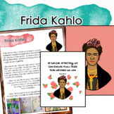 Frida Kahlo Artist Portrait, Quote, and Handout/Distance learning Lesson