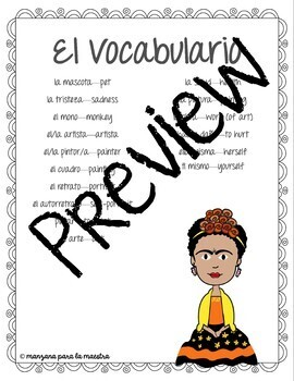 Frida Kahlo Spanish Reading Comprehension Questions Editable & Google Forms