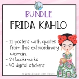 Frida Kahlo Bundle - posters, bookmarks and digital stickers