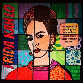 Frida Kahlo Collaborative Art Poster