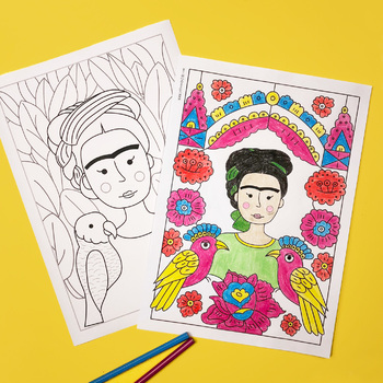 Frida Kahlo Colouring Pages (coloring)