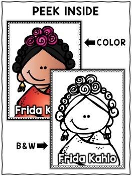 Hispanic Heritage Craft - Frida Kahlo Activity