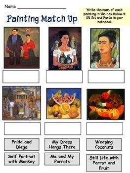 Frida Kahlo - Day of the Dead - Dia de los Muertos - Printables - Literacy Unit